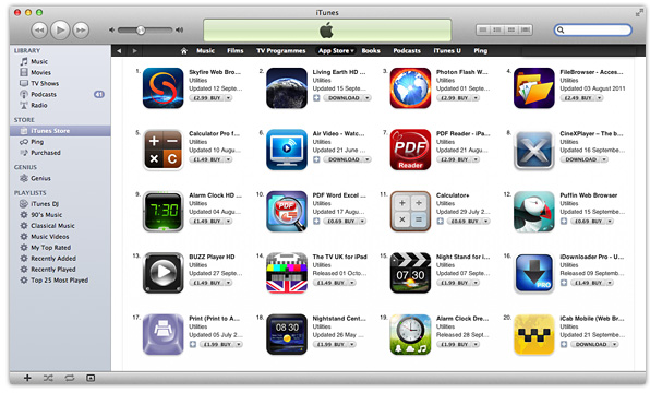iOS Apps iTunes