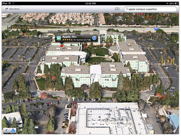 Apple Maps iPad