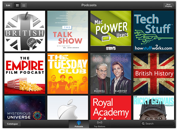 Podcasts App for iPad