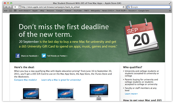 Apple's Back to School promo