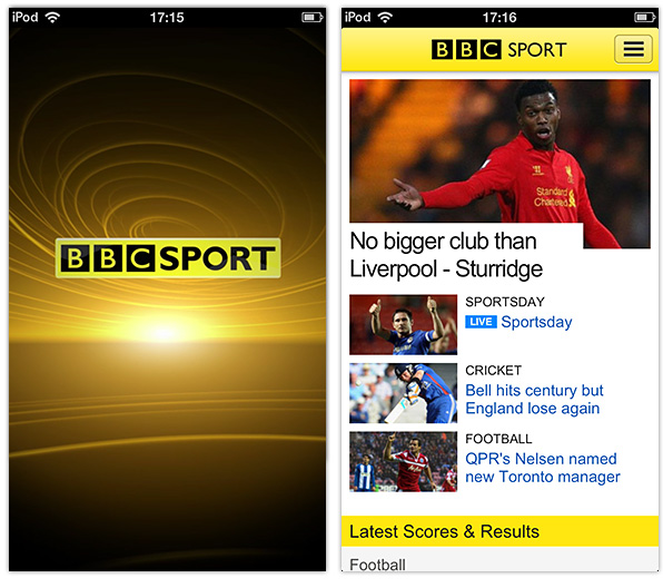 BBC Sport app for iPhone