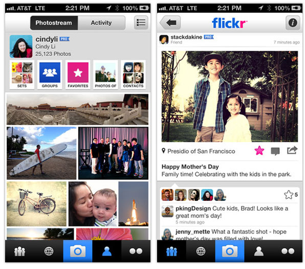 Flickr iPhone