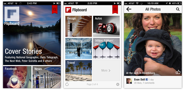 Flipboard iPhone screenshots