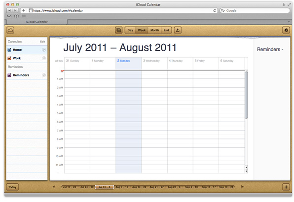 how to set up icloud calendar
