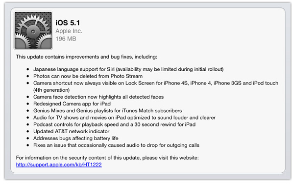 iOS 5.1 now available
