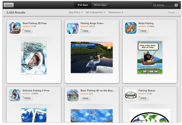 App Store search in iOS 6