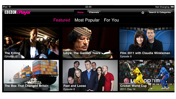iPlayer on iPad