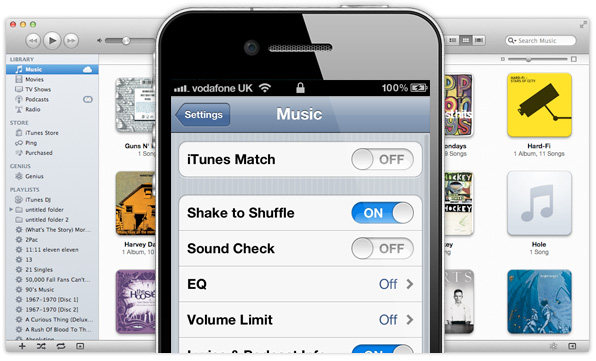 iTunes Match on iPhone