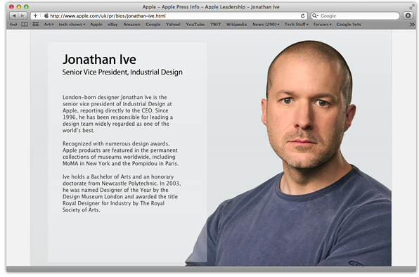Jonathan Dickson Wallpapers Jonathan Ive officially knighted interviewed by The Telegraph
