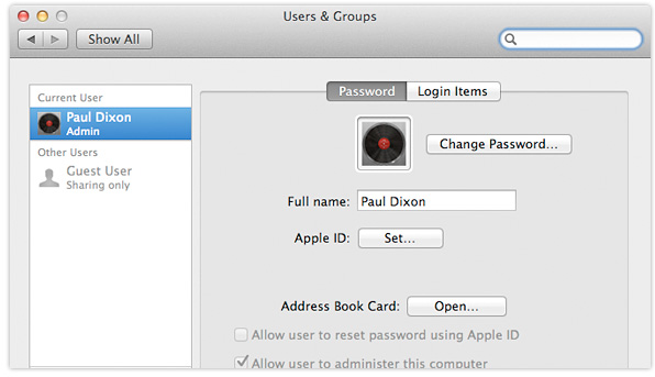OS X Lion Users & Groups