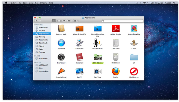 OS X Lion Finder Window