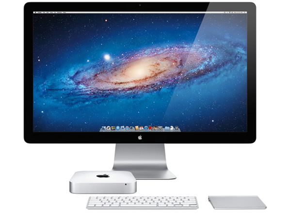 Mac mini with Apple display