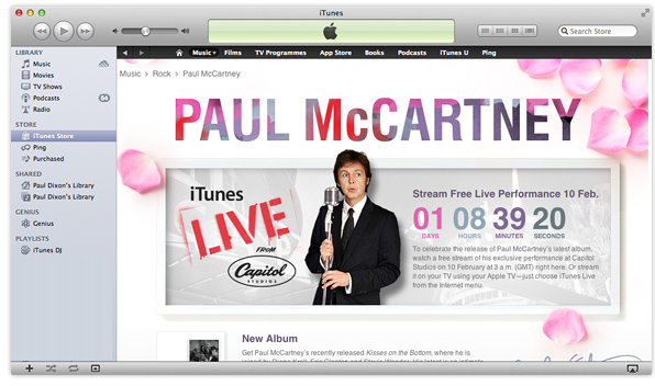 Paul McCartney performance live on iTunes & Apple TV