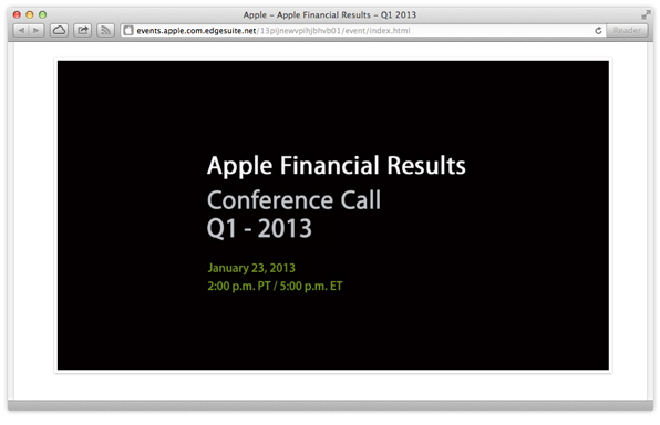 Q1 2013 earnings call