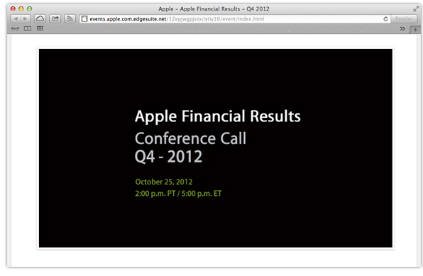 Q3 2012 financial results