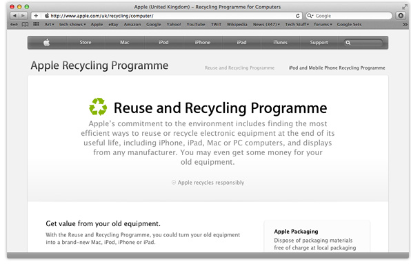 Apple expand Reuse & Recycling Programme