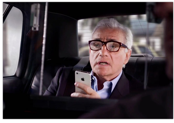 Martin Scorsese iPhone 4S TV advert
