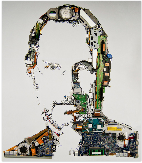 Steve Jobs MacBook Pro Parts Portrait