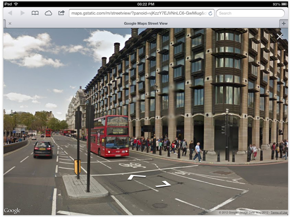 Google Street View iPad