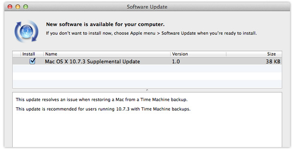 Mac OS X 10.7.3 Supplemental Update
