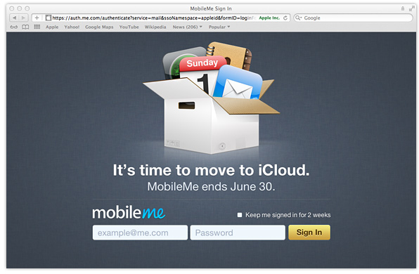 MobileMe - time to move