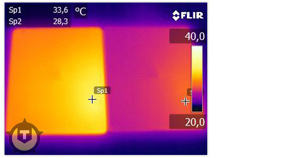 thermal images of the new iPad and the iPad 2