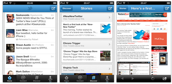 Twitter iPhone Screenshots