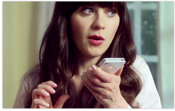 Zooey Deschanel iPhone 4S TV advert